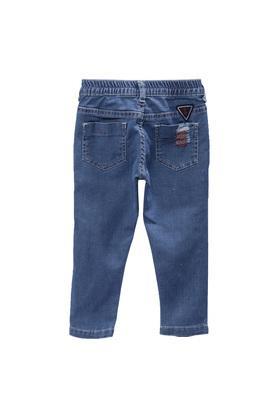 Boys Slim Fit 5 Pocket Rinse Wash Jeans