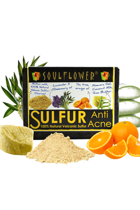 SOULFLOWER Anti Acne Sulfur Soap