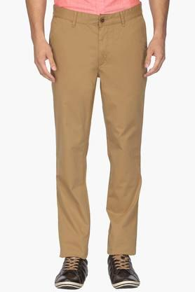 WILLS LIFESTYLEMens Slim Fit 5 Pocket Solid Trousers