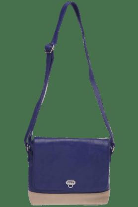 HAUTE CURRYWomens Blue Flap Over Sling Bag