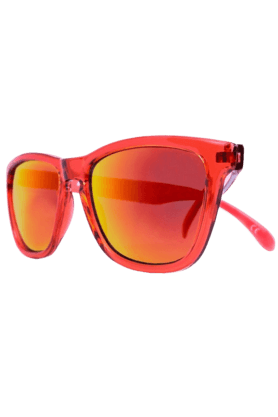 KNOCKAROUND Classic Premium Monochrome Unisex Sunglasses Red-PRMC1004 (Use Code FB20 To Get 20% Off On Purchase Of Rs.1800)