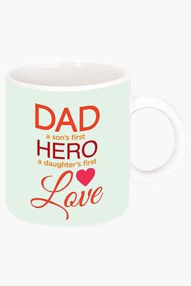 CRUDE AREA Dads A Hero Printed Ceramic Coffee Mug