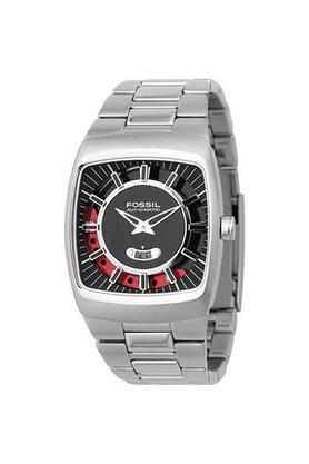 Mens Black Dial Stainless Steel Analogue Watch - FS4171