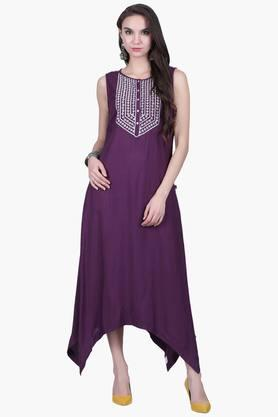JUNIPER Womens Embroidered Asymmetrical Dress  ... - 202425184