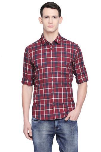 BASICS -  MaroonCasual Shirts - Main
