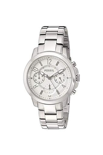 Womens White Dial Metallic Chronograph Watch - ES4036