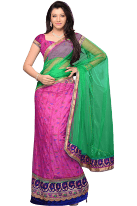 DEMARCA Womens Embroidered Saree (Buy Any Demarca Product & Get A Pair Of Matching Earrings Free) - 200946900