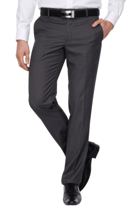 LOUIS PHILIPPEMens Flat Front Slim Fit Solid Formal Trousers