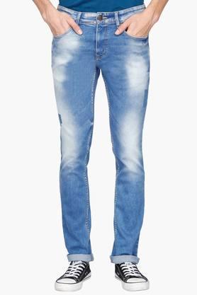 Life Junior O Jeans (Men's) - Mens 5 Pocket Heavy Wash Jeans