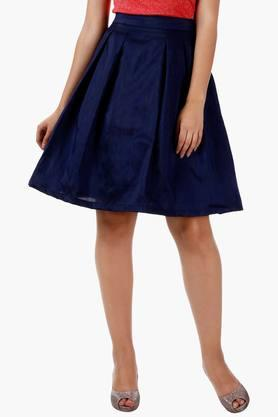 MISS CHASEWomens Solid Midi Skirt