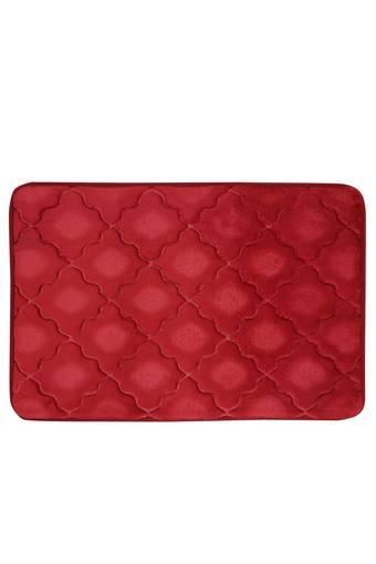 Rectangular Solid Memory Foam Diamond Bath Mat