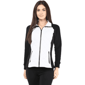 THE VANCA Women Polar Fleece Jacket In Off White Color