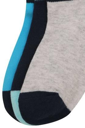 Boys Solid and Slub Knitted Socks Pack of 3