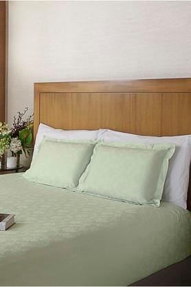 ST CLOUD Seagreen St Cloud 300 TC Jacquard King Bedsheet With 2 Pillow Cover (Bedsheet Set (King)