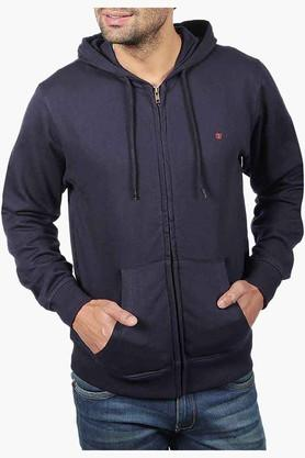 Mens Full Sleeves Hooded Neck Solid Sweatshirt