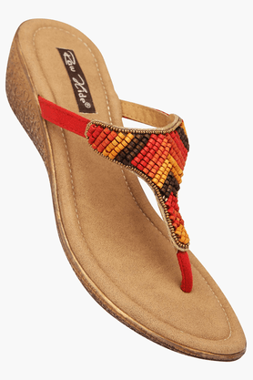 RAW HIDE Womens Daily Wear Slipon Wedge Sandal - 200805909