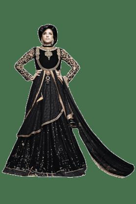 DEMARCAWomen Net Embroidered Lehenga Choli