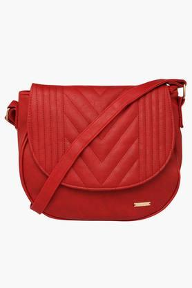 FEMINA FLAUNT Womens Leather Zipper Closure Sling Bag