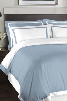 SPACESHygro Forever Blue Cotton King XL Bed Sheet With 4 Pillow Covers