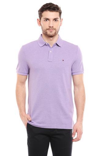 TOMMY HILFIGER -  PurpleT-Shirts & Polos - Main