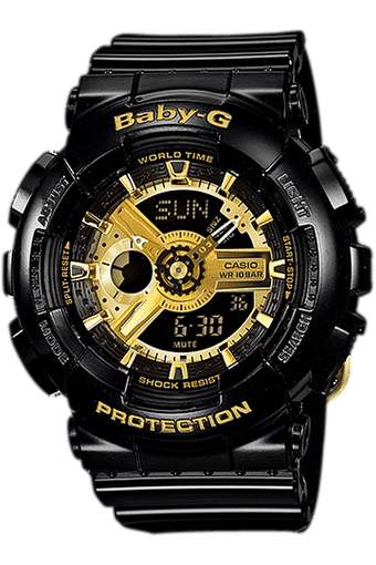 Baby-G - Resin Strap Watch with Black Round Dial
