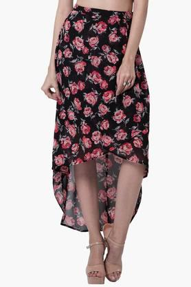 FABALLEY Womens High-low Skirt - 201827039