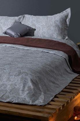STOA PARIS Light Brown 300 TC Cotton King Bedsheet With 2 Pillow Cover (Bedsheet Set (King)