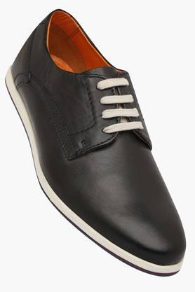 VENTURINIMens Leather Lace Up Casual Shoes