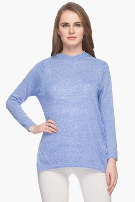 FEMINA FLAUNT Womens V Neck Slub Sweater