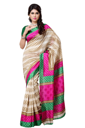 DEMARCA De Marca Multicolor Art Silk Designer DF-501D Saree