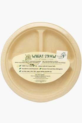 BACK TO EARTHWheat Straw Divided Plate Set Of 20