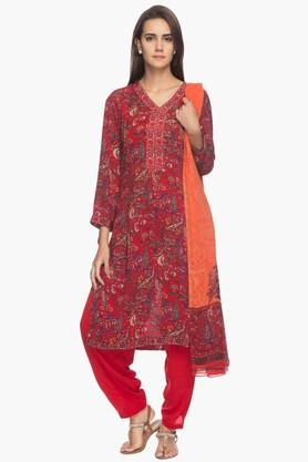 BIBA Womens Printed Salwar Suit (Plus Size)