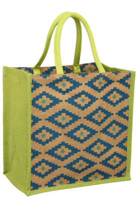 BACK TO EARTH Aztec Jute Bag