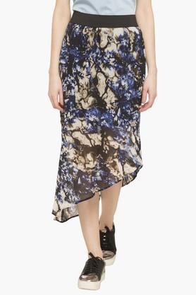 LIFEWomens Printed Asymmetrical Skirt