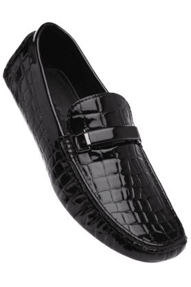 RUOSH Mens Black Casual Slipon Shoe