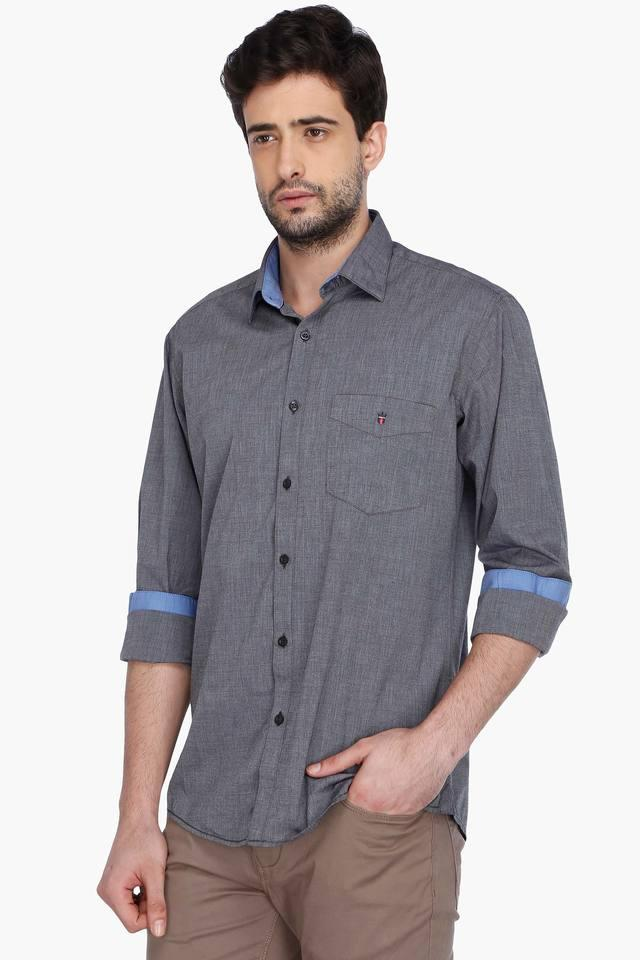 Mens Full Sleeves Casual Slub Shirt