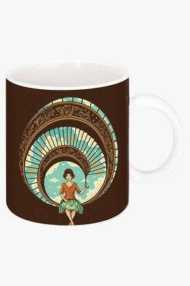 CRUDE AREAWelcome To My World Printed Ceramic Coffee Mug