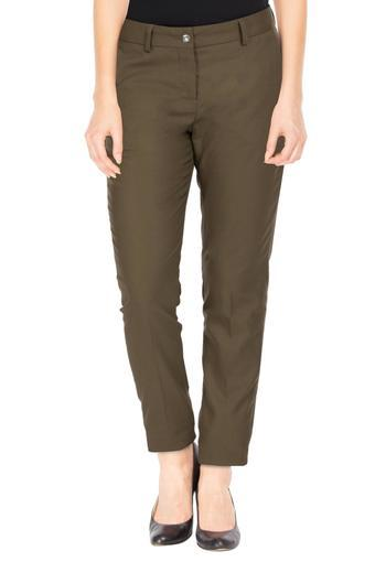 VAN HEUSEN -  Olive Trousers & Pants - Main