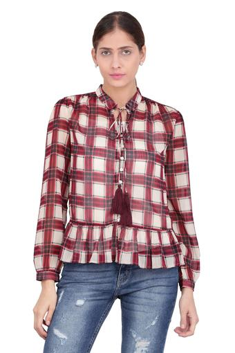 Womens Collared Check Shirt