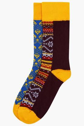 LIFE Mens Printed Socks Pack Of 2