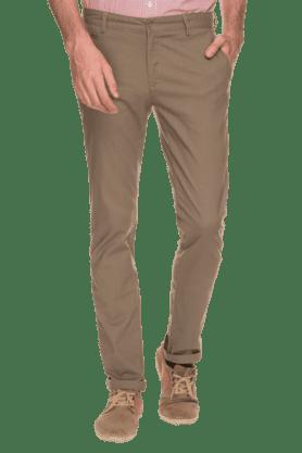 BLACKBERRYSMens Slim Fit Solid Chinos - 200889358