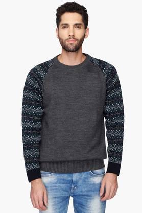 VETTORIO FRATINIMens Round Neck Printed Pullover