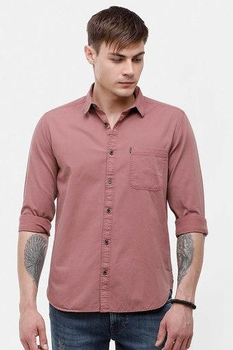 VOI JEANS -  BrownCasual Shirts - Main