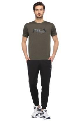 Mens Round Neck Graphic Print Sports T-Shirt