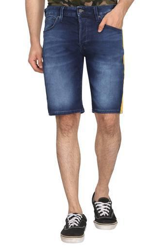 Mens 5 Pocket Whiskered Effect Shorts