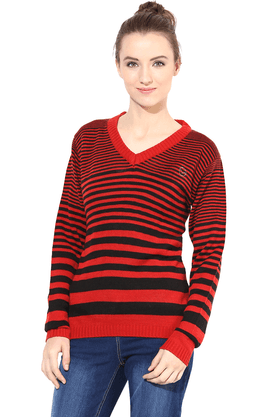 THE VANCA Women Wool Acrylic Cardigan - 200344460