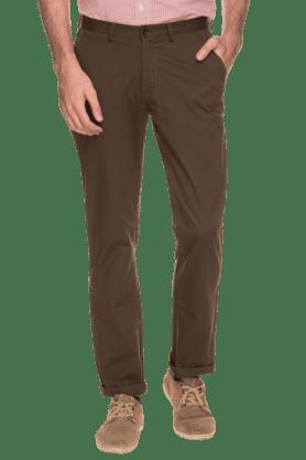 BLACKBERRYSMens Slim Fit Solid Chinos - 200889333