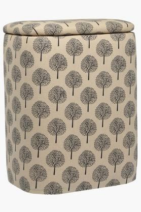 BACK TO EARTH Oval Basket Cum Ottoman - Small
