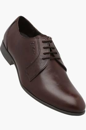 Mens Leather Lace Up Derby Shoes