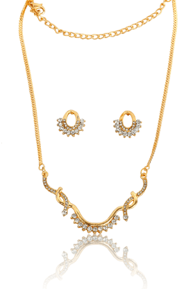 TOUCHSTONE Necklace Set -Mangalsutra Style - 8616285